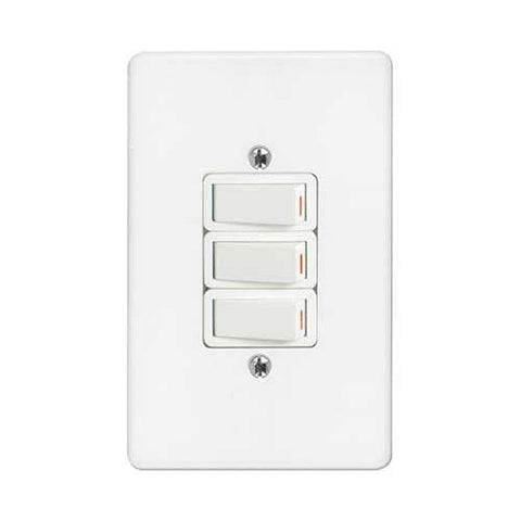 Crabtree Classic 3 Lever 2 X 1 Way 1 X 2 Way Light Switch