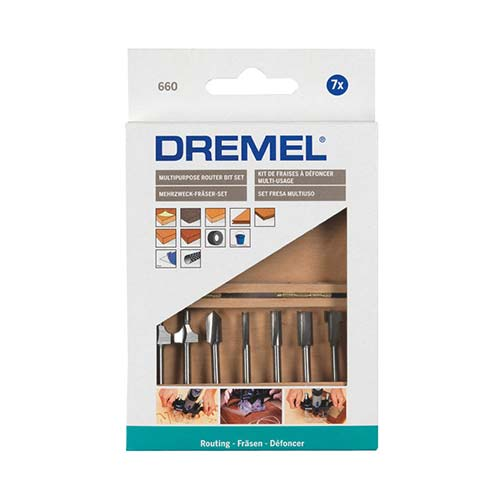 Dremel Multipurpose Router Bit Set 660