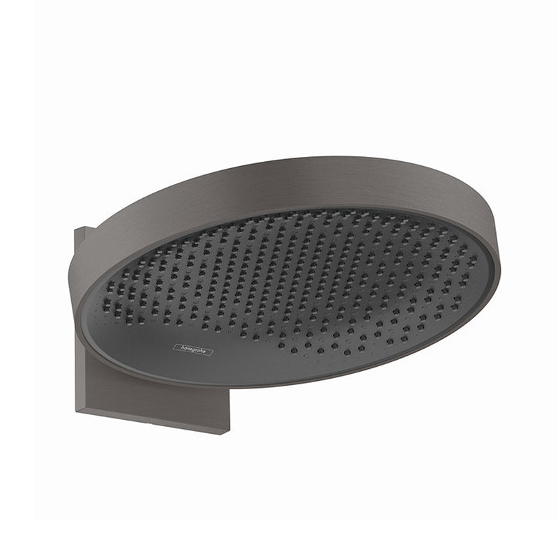 hansgrohe Rainfinity 360 1jet OverHead Shower - Wall Connector -  Brushed Black Chrome