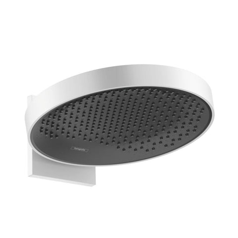 hansgrohe Rainfinity Overhead Shower 360 1 Jet with Wall Connector - Matt White