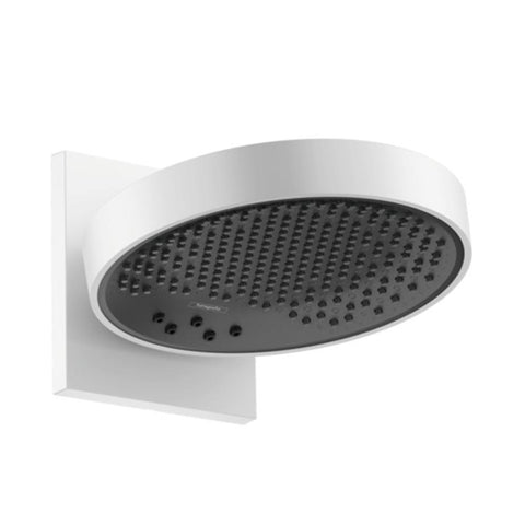 hansgrohe Rainfinity Overhead Shower 250 3 Jet with Wall Connector - Matt White