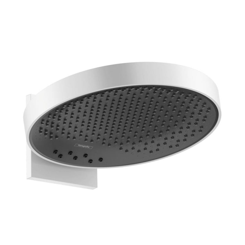 hansgrohe Rainfinity Overhead Shower 360 3 Jet with Wall Connector - Matt White