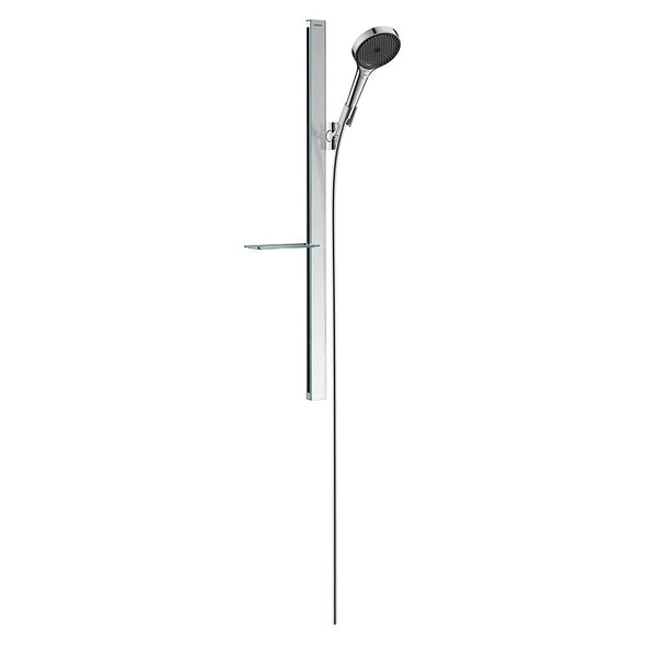 hansgrohe Rainfinity Shower Set 130 3jet EcoSmart with Shower Bar 900mm and Soap Dish
