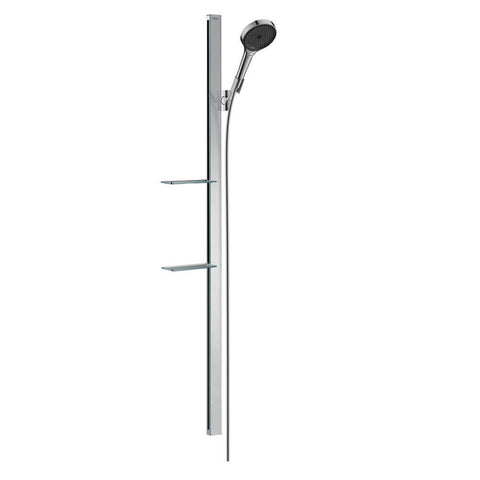 hansgrohe Rainfinity Shower Set 130 3 jet with Shower Bar 1500mm and Soap Dishes
