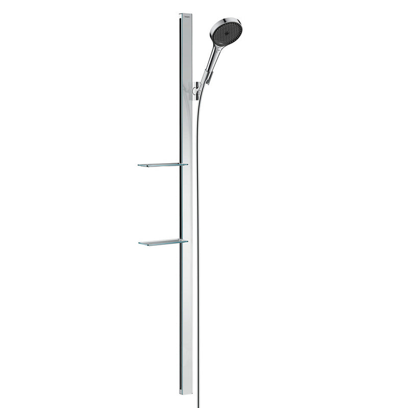 hansgrohe Rainfinity Shower Set 130 3jet EcoSmart with Shower Bar 150mm and Soap Dishes