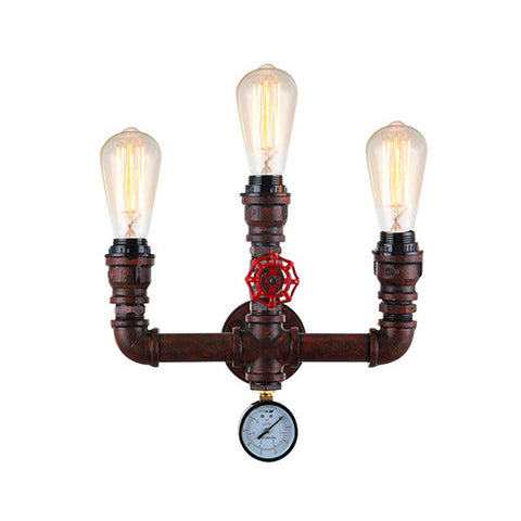 ACDC Steampunk Triple Wall Light