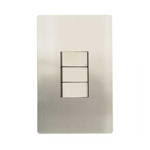 CBi Stainless Steel 3 Lever 2 Way Light Switch v1s/jos42/ss3g2w
