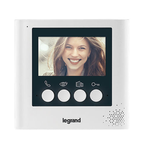 "Legrand Additional 4.3"" Colour Video Unit - White"