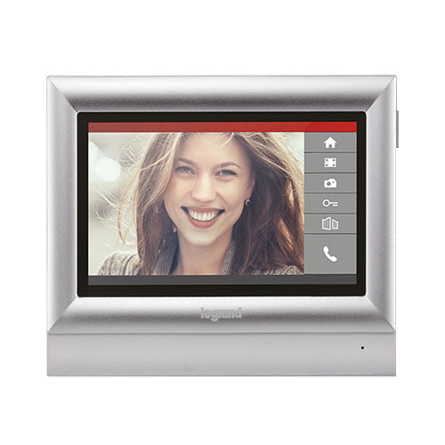 "Legrand Additional 10"" Touch Colour Video Unit - Silver 369335"