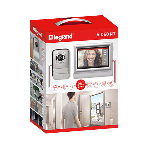 "Legrand 10"" Complete Touch Colour Video Kit - Silver 369330"
