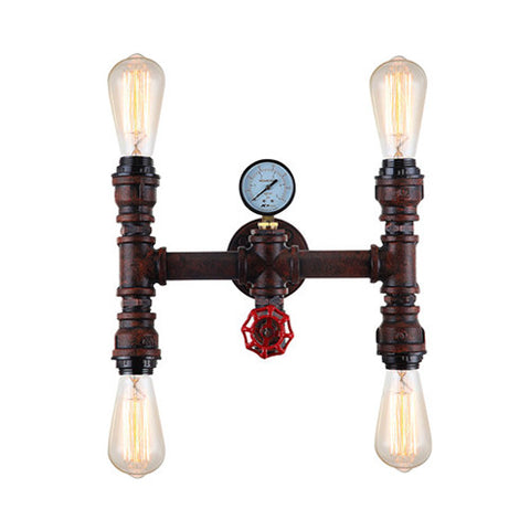 ACDC Steampunk Four Light Wall Light