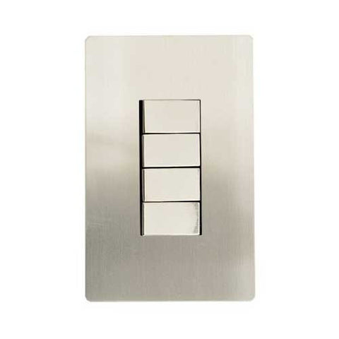 CBi Stainless Steel 4 Lever 2 Way Light Switch v1s/jos42/ss4g2w
