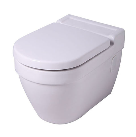VAAL Energy Wall Hung Back Inlet Toilet Pan