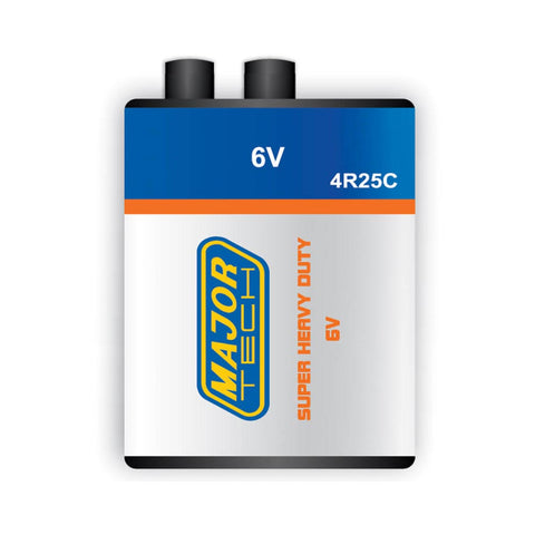 Major Tech 4R25C Type, 6V Lantern Battery