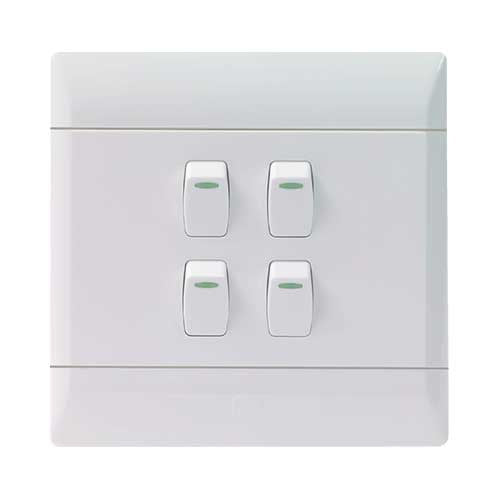 CBi PVC 4 Lever 1 Way Light Switch L126-P