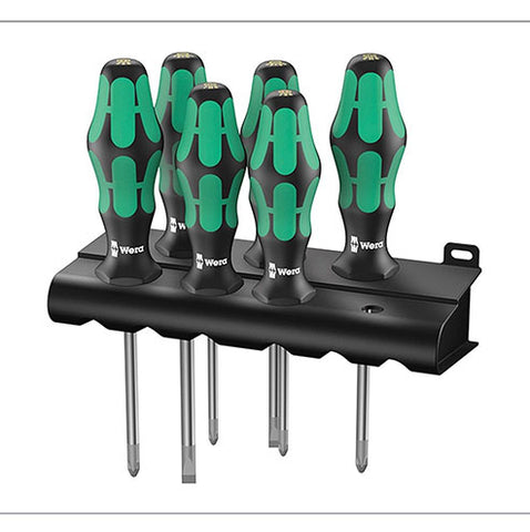 Wera 334 6 Rack Screwdriver Set Kraftform Plus Lasertip
