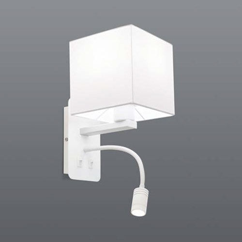 Spazio Ariston Square with Reading Lamp Wall Light