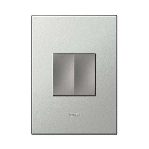 Legrand Arteor Dimmer Press + 1 Lever Switch - Pearl Aluminium P2DSMPA