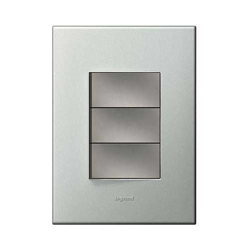 Legrand 1 Lever Dim Press 2 Lever 1 Way Pearl Aluminium