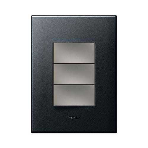 Legrand Arteor 1 Lever Dimmer Press + 2 Lever Switch - Graphite P3DSMGP