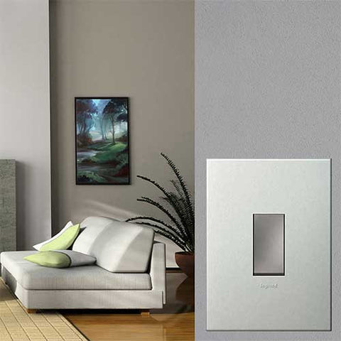 Legrand Arteor 1 Lever Light Switch - Pearl Aluminium P124MPA