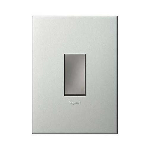 Legrand Arteor 1 Lever Dimmer Press Button - Pearl Aluminium P1DSMPA