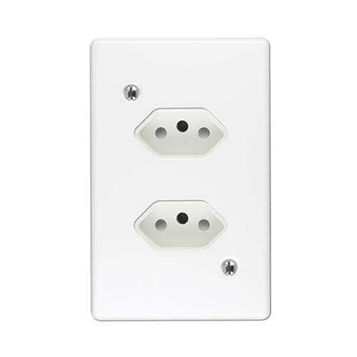 Crabtree Classic Duo Slimline Unswitched Socket