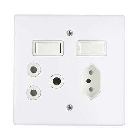 Crabtree Classic Combo Slimline Switched Socket