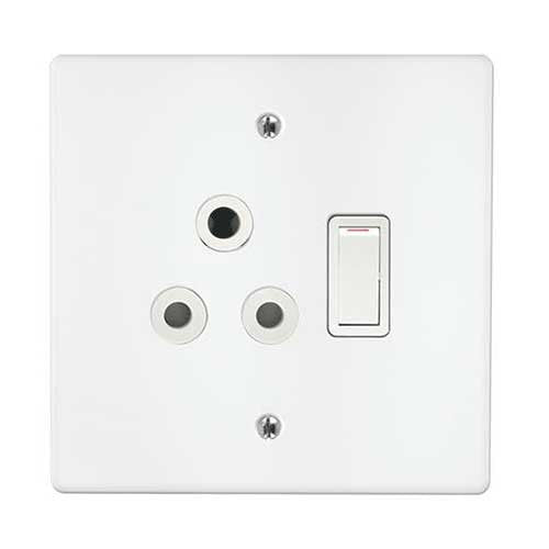 Crabtree Classic Single Light Switched Socket 1