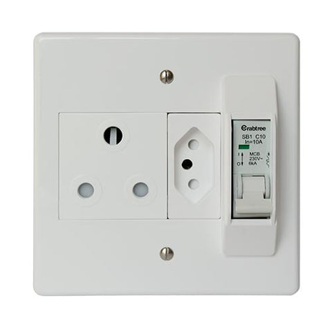 Crabtree Classic 16A Circuit Breaker + 16A Socket & Slimline Socket