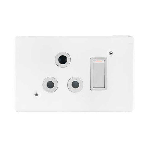 Crabtree Classic Single Light Switched Socket 2