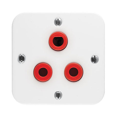 Crabtree Industrial Single 16A Red Dedicated Socket