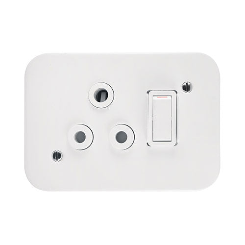 Crabtree Industrial Single 16A Switched Socket