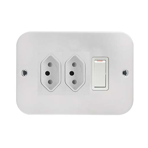 Crabtree Industrial Duo Slimline Switched Socket