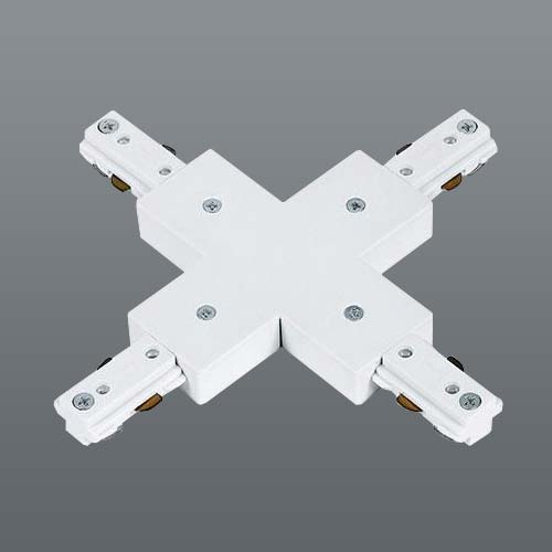 Spazio 3 Wire Slim Track X-Joint White
