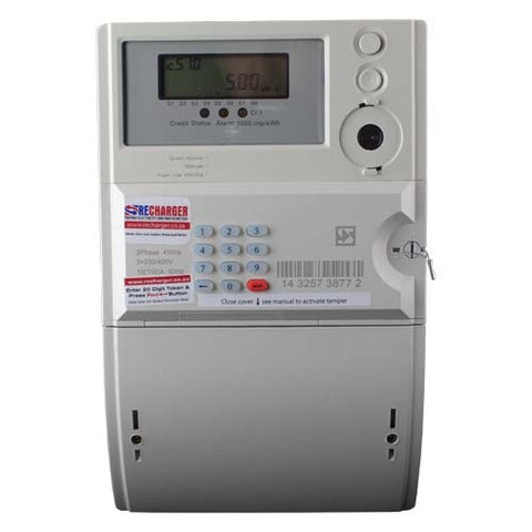 RECHARGER Hexing Three Phase Prepaid Electricity Meter