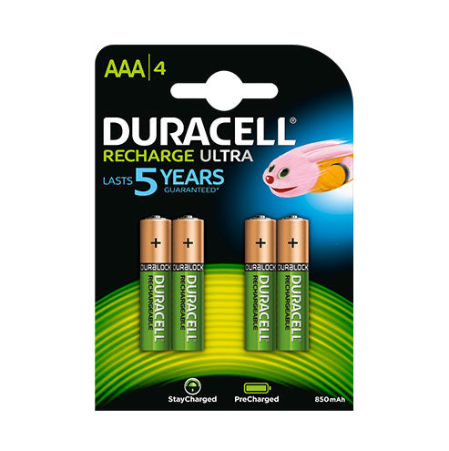 Duracell Rechargeable Ultra AAA 850mAh - 4pk