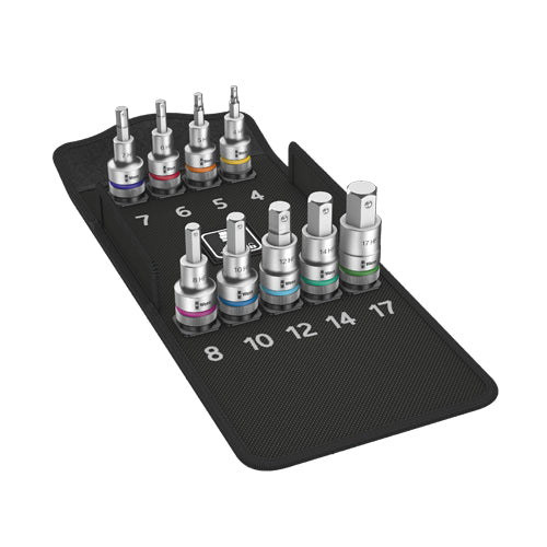 8740 C Hf 1 Zyklop Bit Socket Set With 1 2 Drive With Holding Function