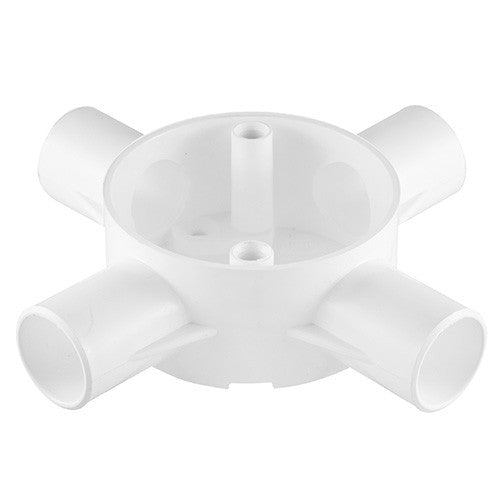 Crabtree Side Entry Conduit Box 4 Way 25mm
