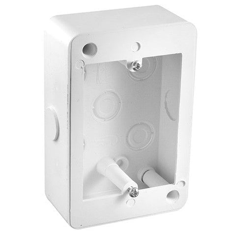 Crabtree Extension Box With Knock Outs 100mm x 50mm