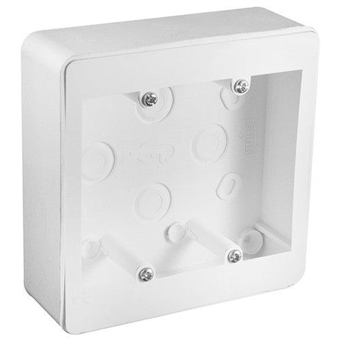Crabtree Extension Box Without Knock Outs 100mm x 100mm