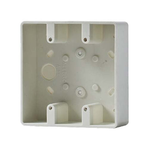 Allbro Single surface mount socket outlet box 4x4 040-724