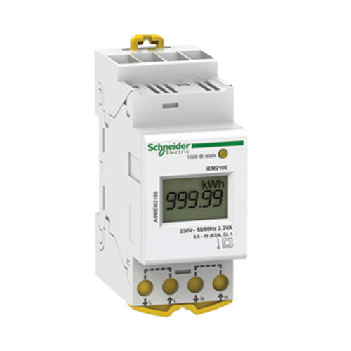Schneider Electric  Acti 9 Iem2100 Rail Mount Energy Meter 63A