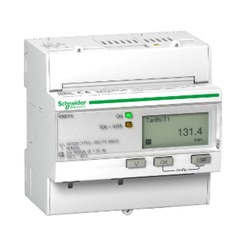 Schneider Electric  Acti 9 Iem3115 Rail Mount Energy Meter 63A Mid Multi Tarif