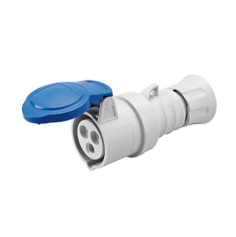 Gewiss Straight Connector 32A 2P+E 230V IP44 6H