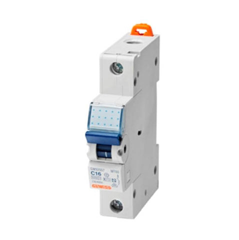 Gewiss DIN Mini Circuit Breakers 1P 6A C 4.5/6kA 1M