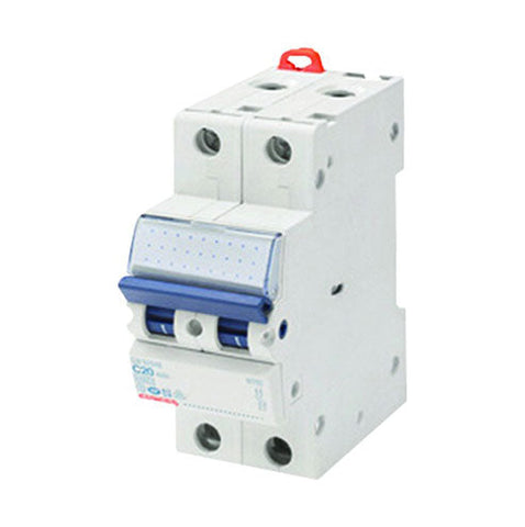 Gewiss DIN Mini Circuit Breakers 2P 20A C 4.5/6kA 2M