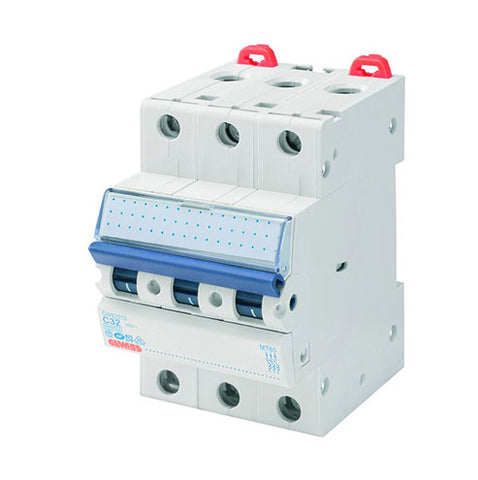 Gewiss DIN Mini Circuit Breakers 3P 25A C 4.5/6kA 3M