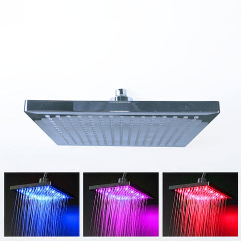 ACDC LED Temperature Indicating Shower Rose