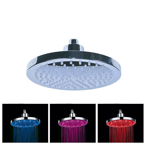 ACDC Round Water Powered Colour Changing LED Shower Rose